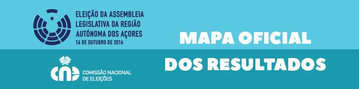 Ir para o Mapa Oficial dos resultados da Eleição da Assembleia Legislativa Regional da Região Autónoma dos Açores de 2016