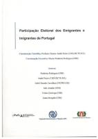 Imagem da capa da publicação Participação Eleitoral dos Emigrantes e Imigrantes de Portugal (2013)