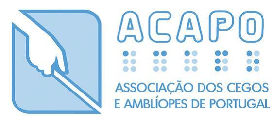 Logotipo e ir para ACAPO - Associação dos Cegos e Amblíopes de Portugal