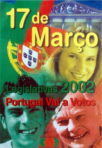 Cartaz - Eleição da Assembleia da República - AR/2002