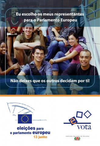 Cartaz e anúncio de imprensa dirigido aos jovens - Parlamento Europeu/2004